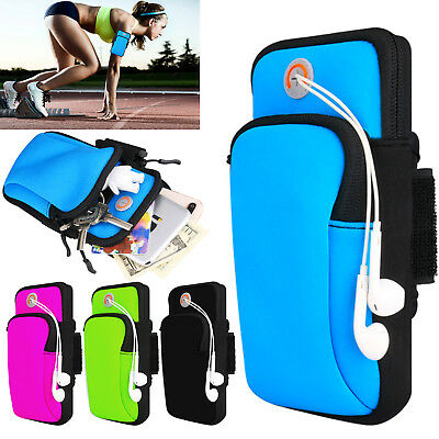 Sports Armband Running Jogging Gym Arm Band Pouch Mobile Phones Holder Bag Case • 3.60£