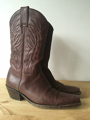 £79.99 • Buy Sancho Ladies Brown Leather Mid Calf Cowboy Boots Uk5