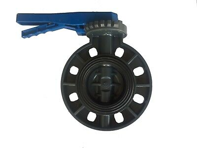AU83.66 • Buy 4 Inch New Sch80 PVC Butterfly Valve Locking Handle Wafer Style Irrigation
