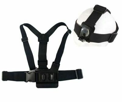 AU8.95 • Buy Head Harness + Chest Strap Mount Accessories For GoPro Hero 2 3 4 5 Camera