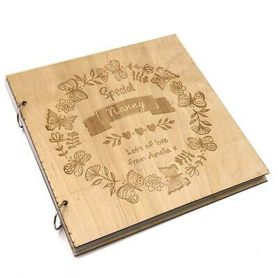 Personalised Special Nanny Engraved Large Wooden Scrapbook Photo Album LWOD-22 • 14.99£