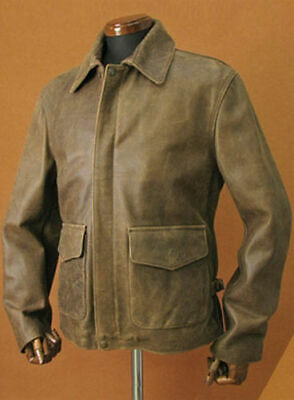 Indiana Jones Harrison Ford Leather Distressed Jacket Brown Genuine Classic Real • 94.24£