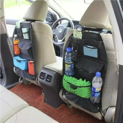 $10.59 • Buy Auto Car Seat Back Multi-Pocket Storage Bag Organizer Holder Accessory Black