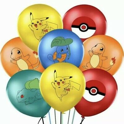 """10x12"""" Pokemon Balloons New Design For Stickers Loot Bag Supplies Party Kids • 3.99£"""