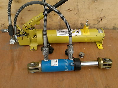 Tangye Double Acting  10 Ton Ram +   Enerpac  P 84  Large Two Way Pump + Reg • 396£