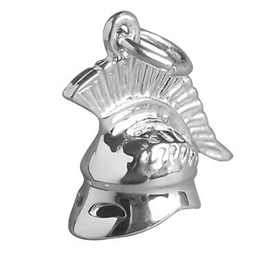 Roman Helmet Charm Sterling Silver 925 Warrior Soldier Gladiator Hat • 28.20£