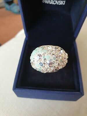 bcb5ca4d2 A BNIB Genuine Swarovski Multi Light Green Chic Ring Size 52 • 58.68$