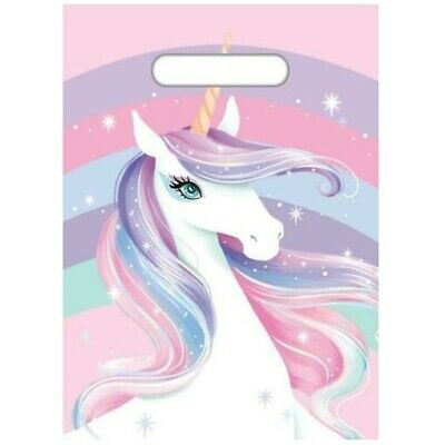 AU4.27 • Buy 8pk Unicorn Pink Loot Lolly Treat Favour Bags Kids Birthday Party Supplies E4933