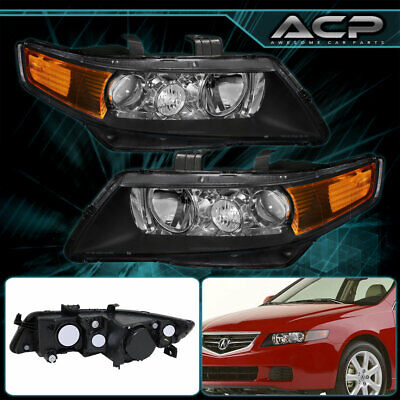 $118.99 • Buy For 2004 2005 2006 2007 2008 Acura TSX Black Projector Headlights Factory Style