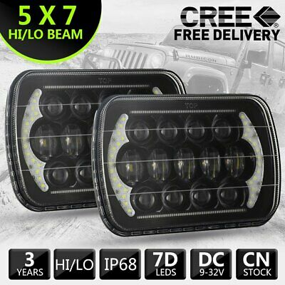 AU98.99 • Buy 2pcs Hilux Led Upgraded Headlights 5x7inch Headlight Replacement H4 Hi/lo Beam