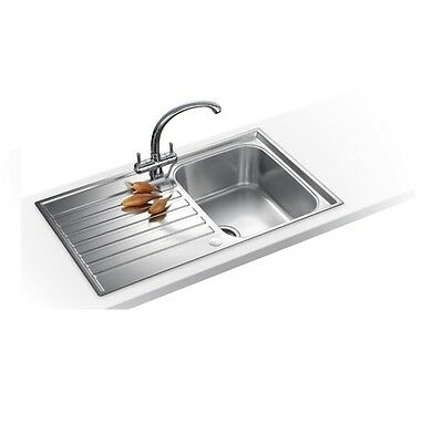 Franke Ascona ASX611 Reversible 1.0 Single Bowl Stainless Steel Kitchen Sink AA* • 64.99£