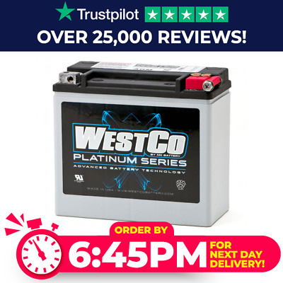 WCP20L Westco Platinum Motorcycle Battery 12V 18Ah - Replaces YTX20L-BS • 116.37£
