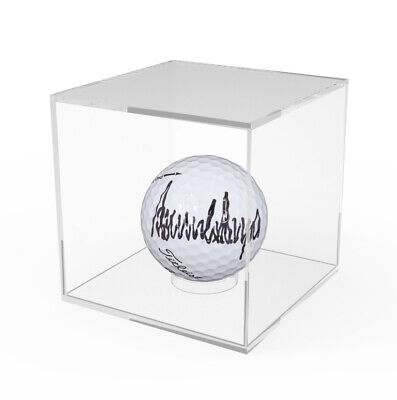 Golf Ball Display Baseball Showcase Clear Acrylic Riser Plexiglass 3.4  Cube • 53.20£