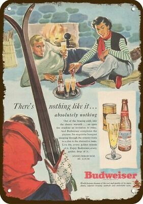 $ CDN30.37 • Buy 1949 BUDWEISER BEER Vintage Look REPLICA METAL SIGN SKI LODGE SKIING SKIERS SKIS