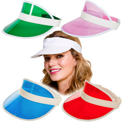 Pub Golf Visors Adults Fancy Dress 80s Neon Tennis Hat Unisex Costume Accessory  • 2.99£