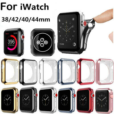 $ CDN2.16 • Buy For Apple Watch Series 4/3/2/1 Ultra Thin TPU Case  Cover Skin 38/42/40/44mm