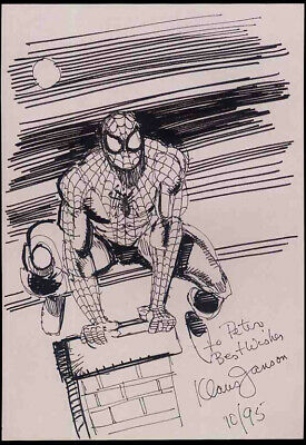 Spider-man Repro 1995 Klaus Janson Sketch Illustration . Marvel Comics Not Dvd • 4.99£