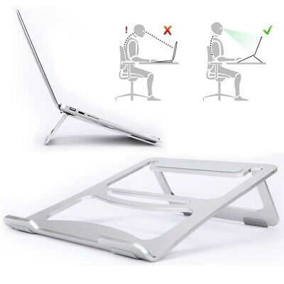AU22.99 • Buy Portable Aluminium Alloy Laptop Stand Foldable Cooling Holder For Macbook Pro AU