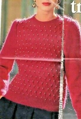 2521 Ladies Mohair Beaded Jumper 32-42  Vintage Knitting Pattern  • 2.59£