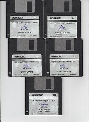 $25 • Buy Ensoniq Jason Miles Signature Series Eps / Eps16+ / Asr 10/88 (5) Disk Set