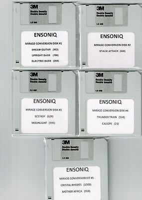 $25 • Buy Ensoniq Eps 16 Plus, Asr 10 & Ts10 Mirage Conversion Library ! Pick Any (5) Disk