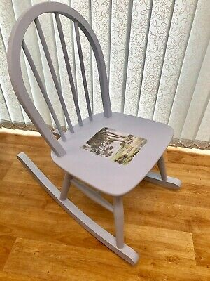 Children's Ercol Rocking Chair Nursery Winnie-the-Pooh Furniture Solid Wood • 85£