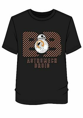BRAND NEW MEN'S STAR WARS 'BB-8 ASTROMECH DROID' BLACK T-SHIRT SIZES: S Up To XL • 2.99£
