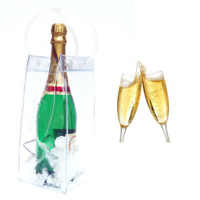 Ice Bag Wine Cooler Champagne Bucket Party Wine Bag NEW • 2.99£