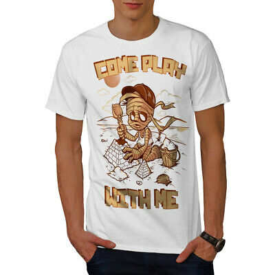 Wellcoda Come Play With Me Mens T-shirt, Mummy Graphic Design Printed Tee • 13.99£