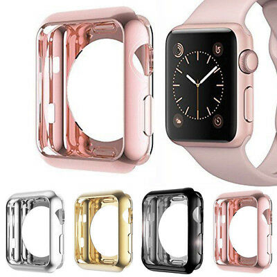 $ CDN2.99 • Buy For Apple Watch Series 4/3/2/1 TPU Bumper IWatch Screen Protector Case Cover Sl