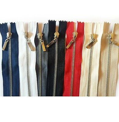 Metal Chrome Silver Teeth Zips - No 3 Weight Zipper CLOSED END,OPEN ENDED • 2.13£