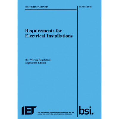 £57.99 • Buy The IET 18th Edition Wiring Regulation Book - BS 7671:2018 Electrical Regs BLUE