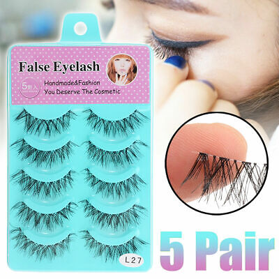5 PAIRS Lashes Lash DEMI WISPIES Fake Eyelash Natural Long False Eye Free P&P UK • 2.67£