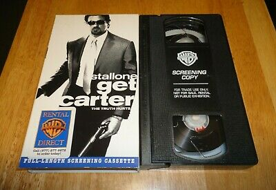 Get Carter (VHS, 2000) Sylvester Stallone Action - Rare Demo Promo Screener Copy • 8.58£