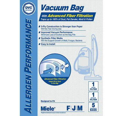 Meile Type F J M 7291640 HEPA Vacuum Cleaner Bags DVC Made In USA • 542.21£