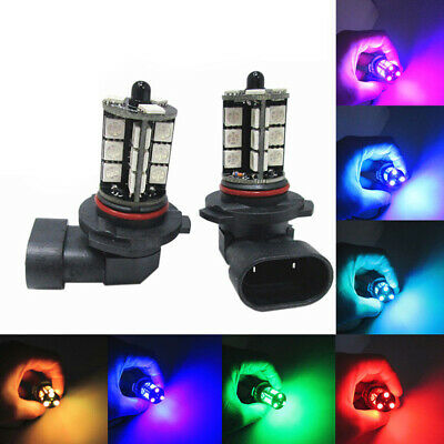 $9.25 • Buy 1 Pair H8 H11 5050 27-SMD 12V RGB Car Headlight Bulb Multi-color Accessories