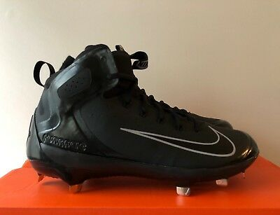 the best attitude ffad9 c647e Men s Nike Alpha Huarache Elite Mid Baseball Cleats Black 923428 - New   Sz  10.5 •