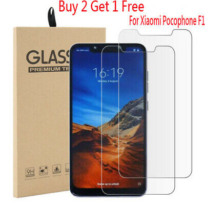 AU2.77 • Buy Screen Protector For Xiaomi Pocophone F1 Tempered Glass Protective Film Glass DO