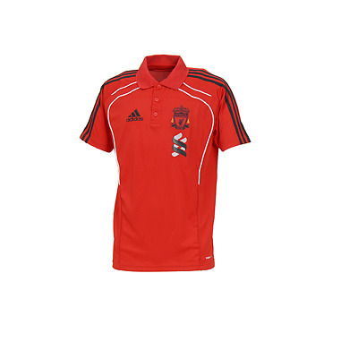 Mens ADIDAS OFFICIAL LIVERPOOL FC Red Training Polo T-Shirt P95538 • 24.99£