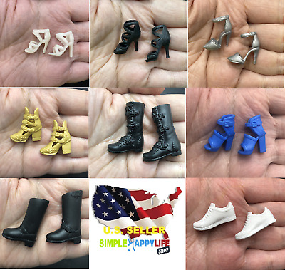 """1//6 Scale Boots BLACK For 12/"""" TBLeague Hot Toys PHICEN Female Figure ❶USA❶"""