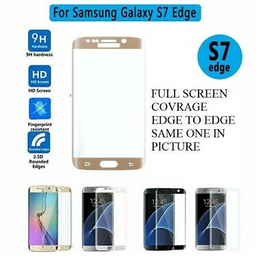 $ CDN5.18 • Buy For Samsung Galaxy S7 EDGE GOLD Glass Screen Protector - 100% Genuine Tempered