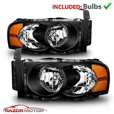 $86.95 • Buy Replacement Headlights For 2002-2005 Dodge Ram 1500 2500 3500 Left +Right