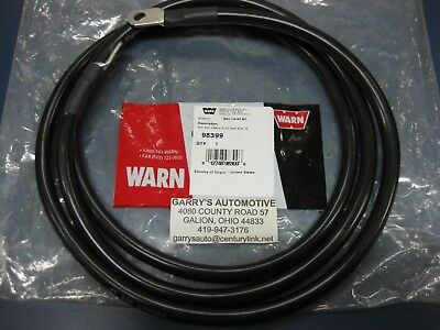 $55 • Buy Genuine WARN 98399 15901 Black Replacement Winch Battery Cable 72  2ga Copper