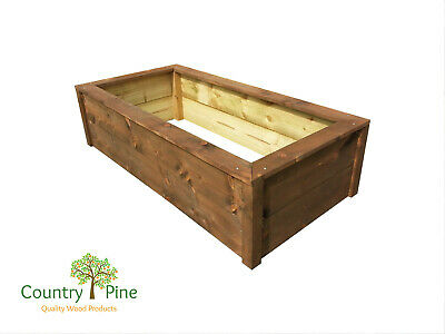 Raised Garden Plant Beds - Rectangle Self Assemble  - Treated Timber 8 Colours • 33.95£