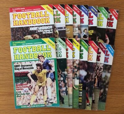 Football Handbook Marshall Cavendish 1978 Lot Of 16 • 5.99£