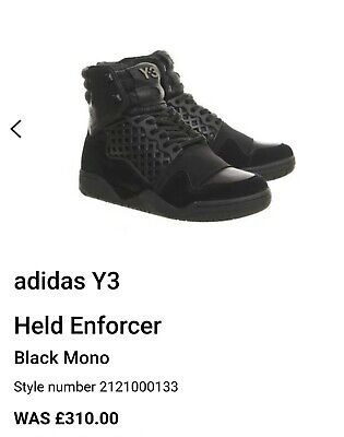 Y3 Trainers Size 7 Held Enforcer High Leather Suede Original Box R.R.P £310 ⭐⭐⭐⭐ • 129.99£