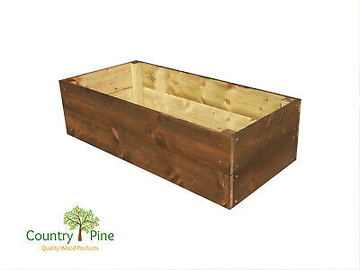 Rectangle Raised Garden Bed - Treated Timber Extra Large | 8 Natural Colours • 54.95£