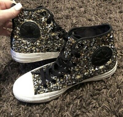 Womens Converse Sequin Lace Up UK 4.5 • 22£