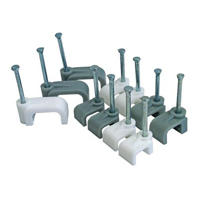 Grey T& E Cable Clips**1-10mm**CED Sold In 25's • 0.99£