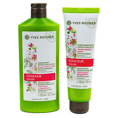 AU48.95 • Buy YVES ROCHER  Protection & Radiance  Color CONDITIONER & SHAMPOO DUO SET 150 ML